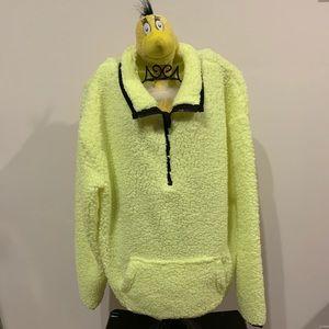 No boundaries cozy fleece half zip pullover